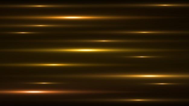 Lichtgevende gouden abstracte fonkelende gevoerde achtergrond.