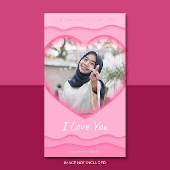 Liefde poster sjabloon