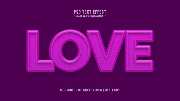 Liefde tekststijleffect