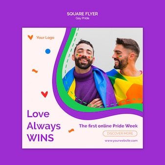 Liefde wint altijd vierkante flyer