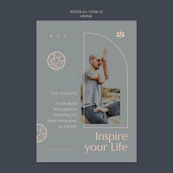 Lifestyle inspiratie afdruksjabloon