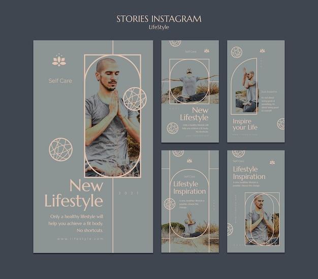 Lifestyle inspiratie social media verhalen set