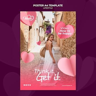 Lifestyle poster sjabloonontwerp