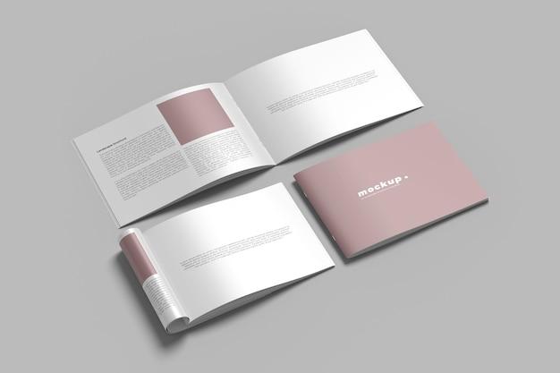 Liggende brochure catalogus mockup