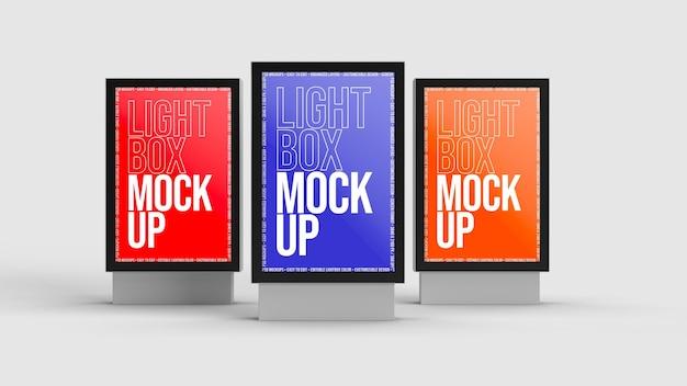 Lightbox mockup ontwerp geïsoleerd