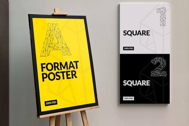 Lijst posters mock-up