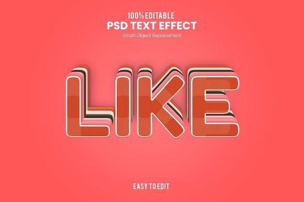 Liketext-effect