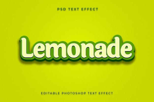 Limonade tekststijleffectsjabloon