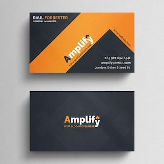 Limpiar plantilla de tarjeta de visita minimalista