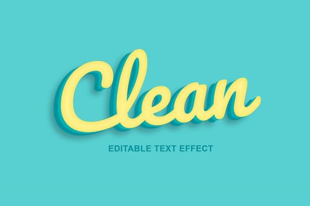 Limpio, efectos de texto en 3d premium psd