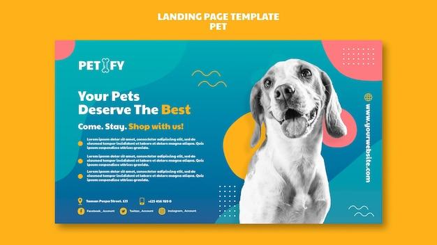 Linda página de inicio para mascotas