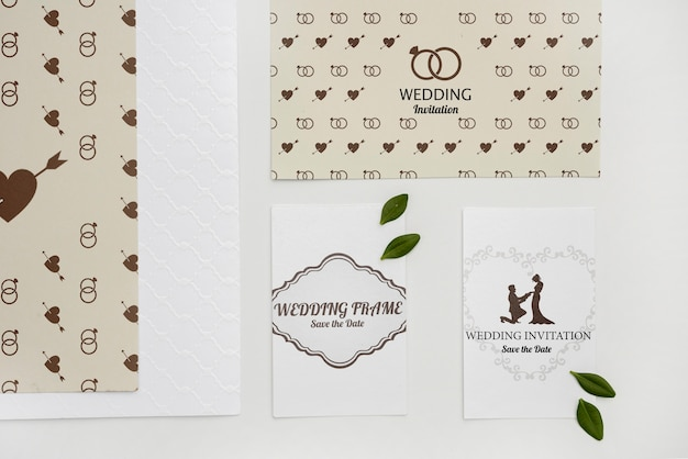Lindas tarjetas de invitación de boda