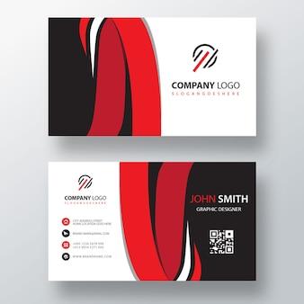 Línea creativa plantilla de tarjeta de visita