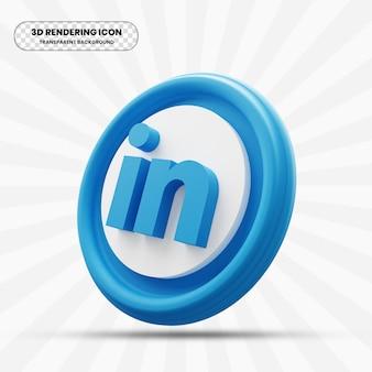 Linkedin pictogram in 3d-rendering
