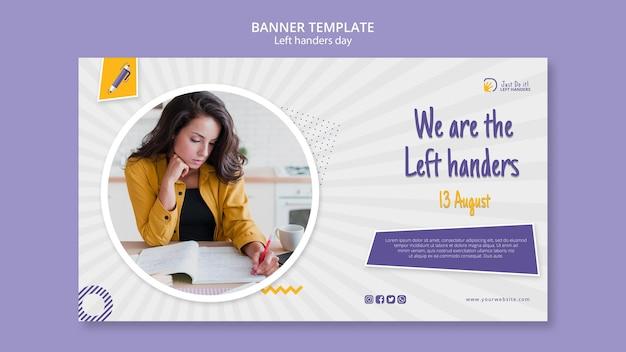 Linkshandige dag banner thema
