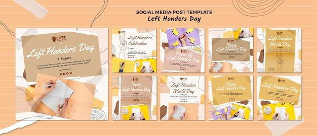 Linkshandige dag social media post