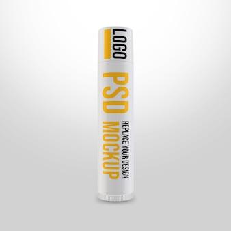 Lippenbalsem 3d-rendering mockup-ontwerp