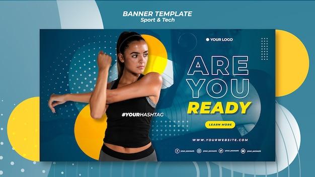 ¿estás listo plantilla de banner de deporte