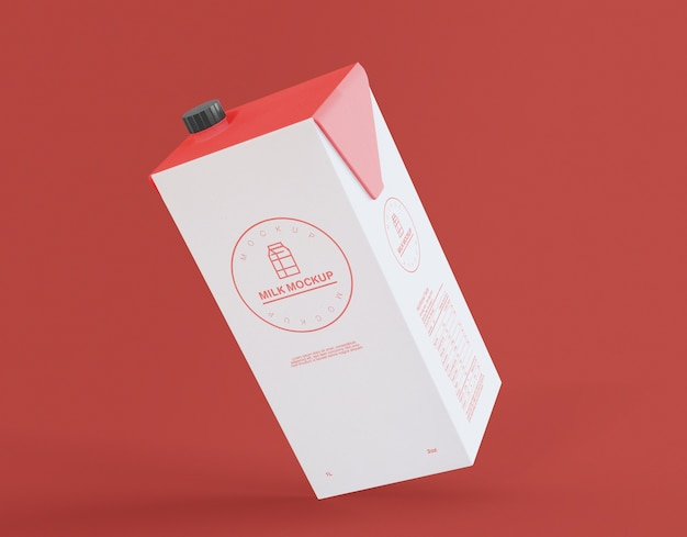 Litro cartone mockup
