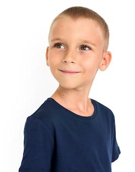Little kid boy smile happy concept
