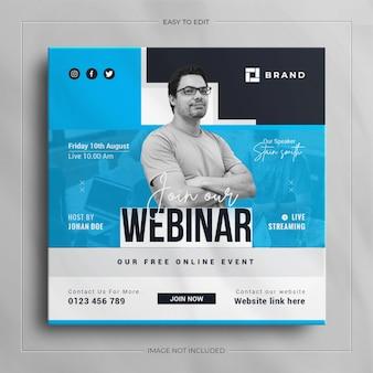 Live streaming zakelijke conferentie webinar promotie sociale media instagram post banner
