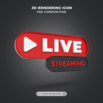Live videostreaming element in 3d-rendering