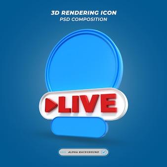 Live videostreaming via sociale media gebruikersframe