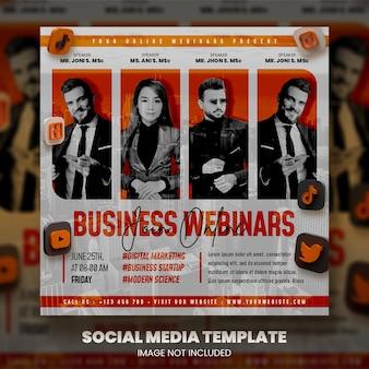 Live webinar en zakelijke social media postsjabloon premium psd