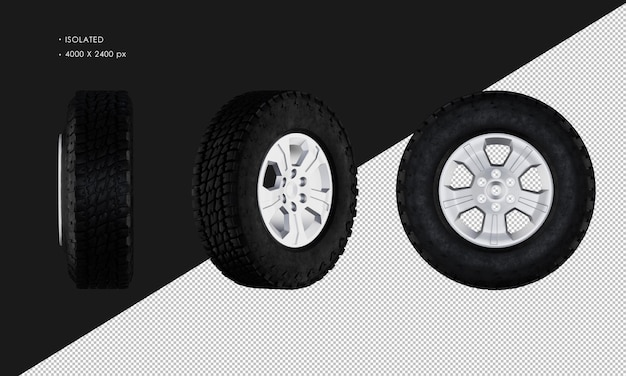 Llanta y llanta de coche de rueda de camioneta aislada