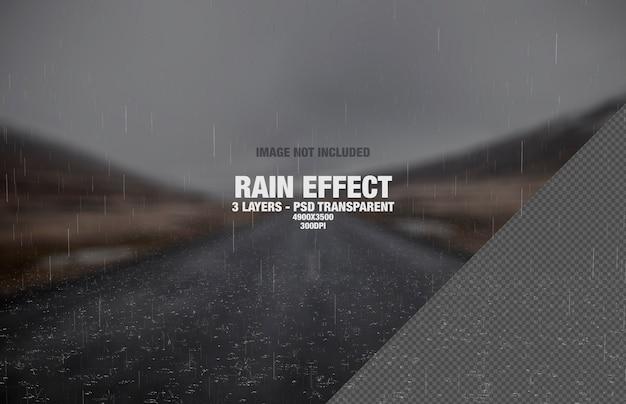 Lluvia o efecto de lluvia real