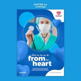 Lo hacemos desde la plantilla de póster del corazón.