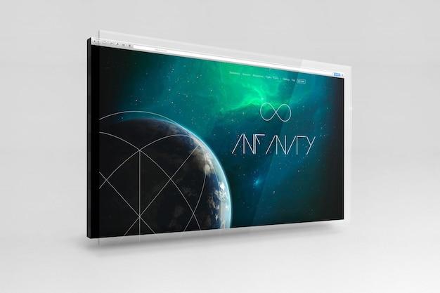 Lo schermo di computer mock up di progettazione