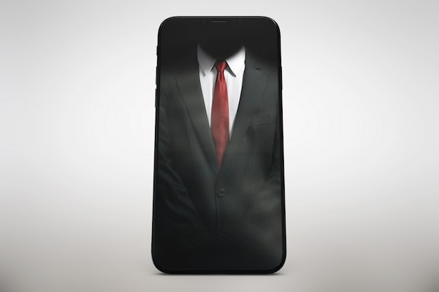 Lo smartphone verticale si esibisce