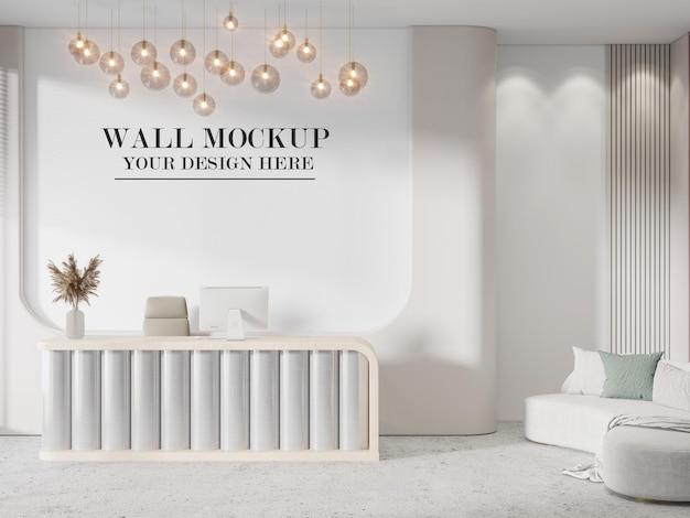 Lobby muur achtergrond in 3d-rendering