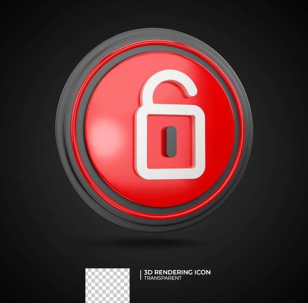 Lock 3d render pictogram illustratie
