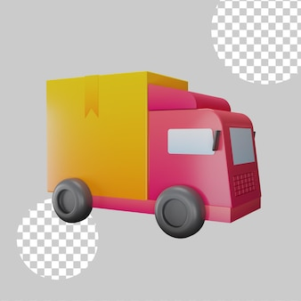 Logistiek concept concept 3d illustratie