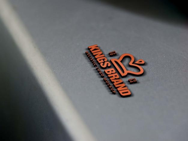 Logo aziendale mock up sul prodotto