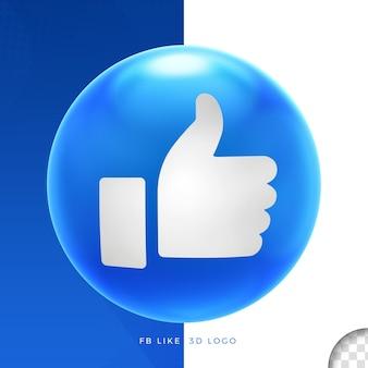 Logo facebook zoals op ellips 3d ontwerp