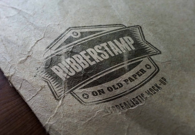 Logo fotorealistico mockup