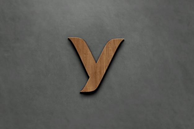 Logo in legno 3d mockup. per la presentazione di branding, identità aziendale, pubblicità