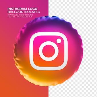 Logo isntagram ballon 3d