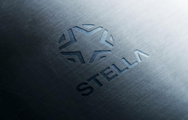 Logo maqueta 3d metal
