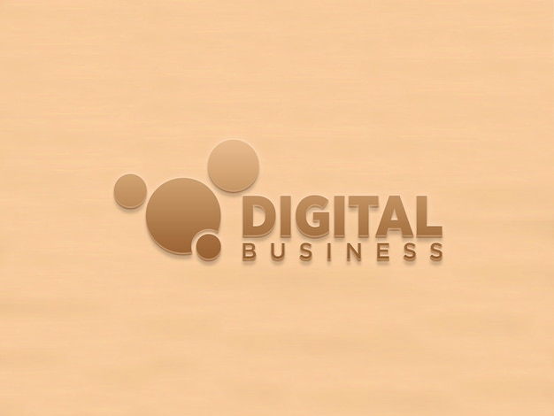 Logo maqueta pared 3d