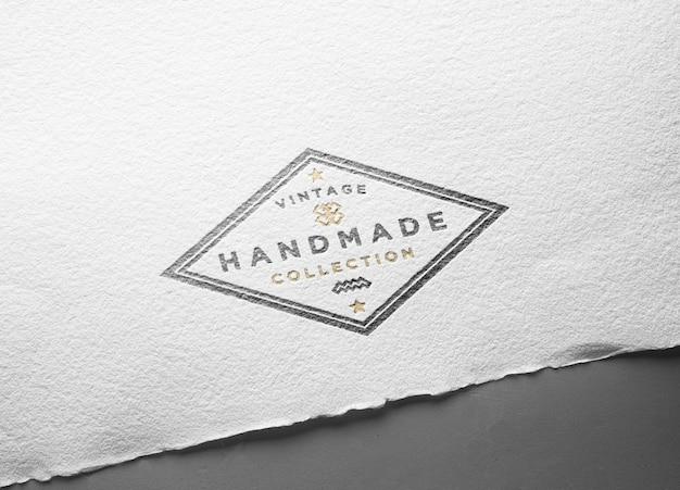 Logo maqueta vintage papel