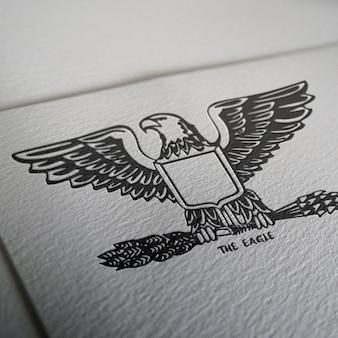 Logo mock up di progettazione