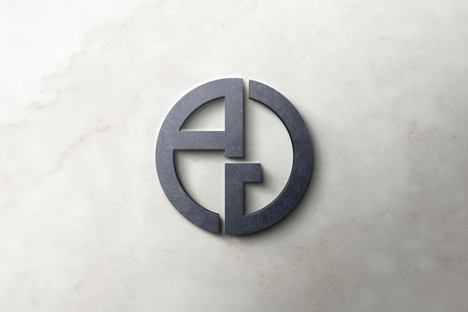 Logo mockup 3d-beton