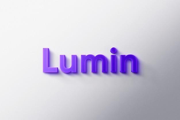 Logo mockup 3d luminoso