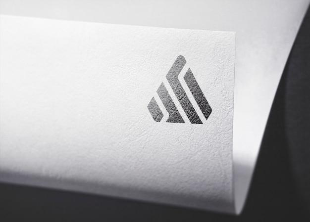Logo mockup carta curva