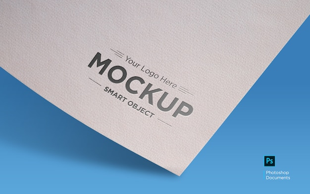 Logo mockup design template
