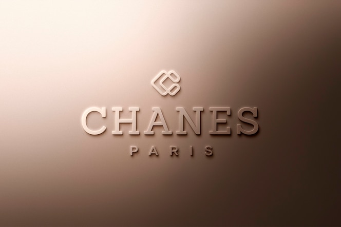 Logo mockup di lusso in oro